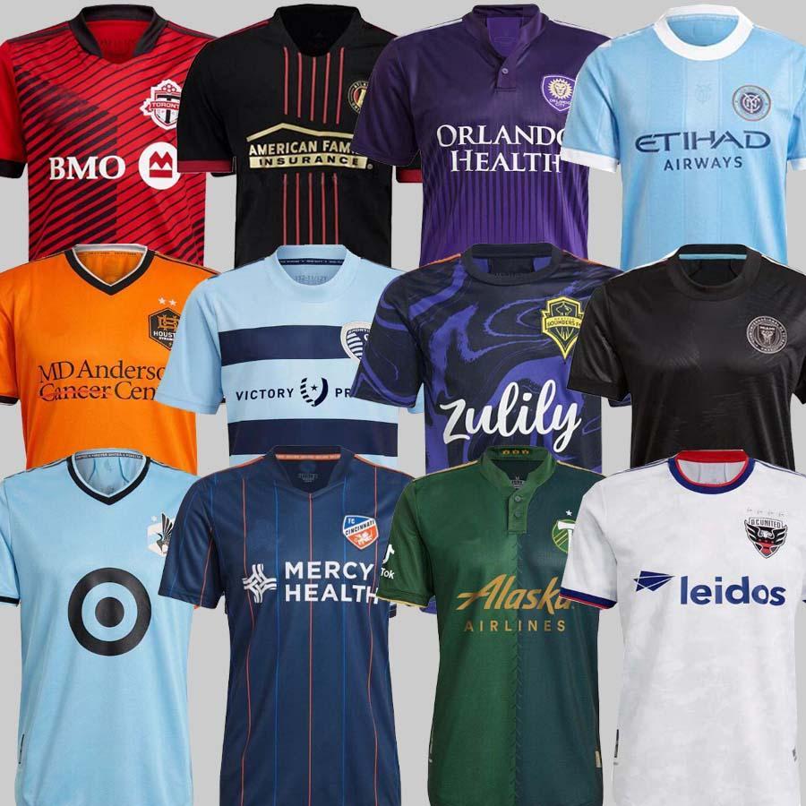 Angeles La Galaxy Inter Miami Soccer Jersey 2122 Portland Sporting Kansas City Cincinnati Atlanta D.C United Minnesota York Foo