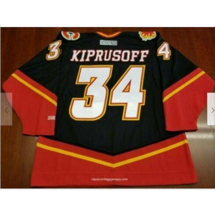 Custom Bay Youth women Vintage 2005-06 Miikka Kiprusoff Calgary Flames Hockey Jersey Size S-5XL or custom any name or number