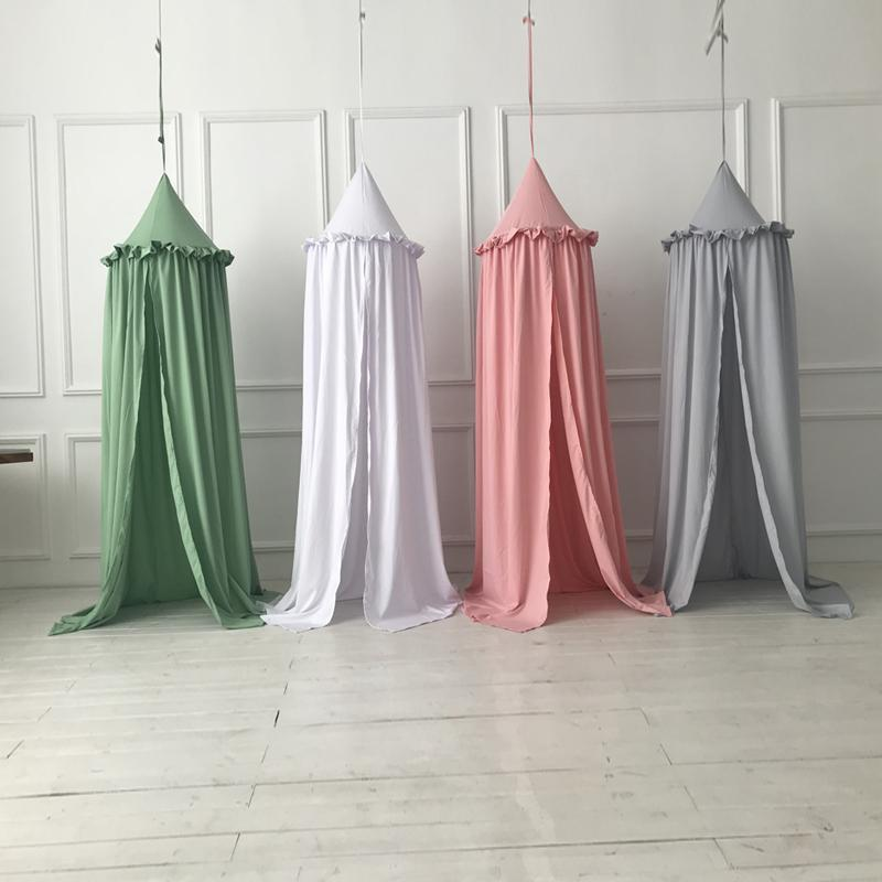 Autumn Baby Triangular Lace Crib Mosquito Net Sandfly Netting For Stroller Children Room Decoration