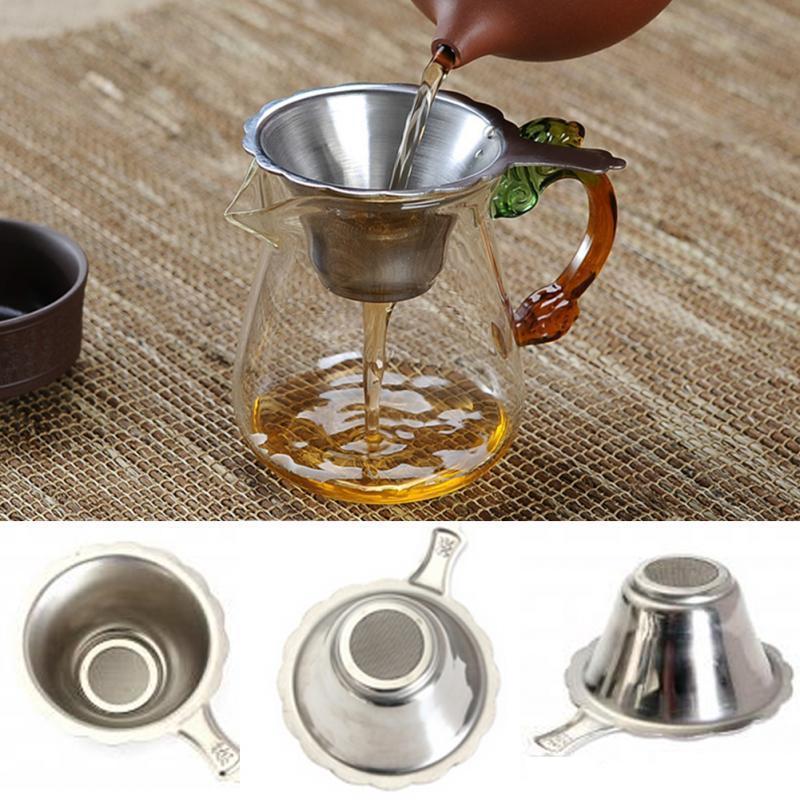 Ferramenta de taças de chá de aço inoxidável Filtro fino especial para chás de chá de bule ajustar acessórios 8,8 * 2cm