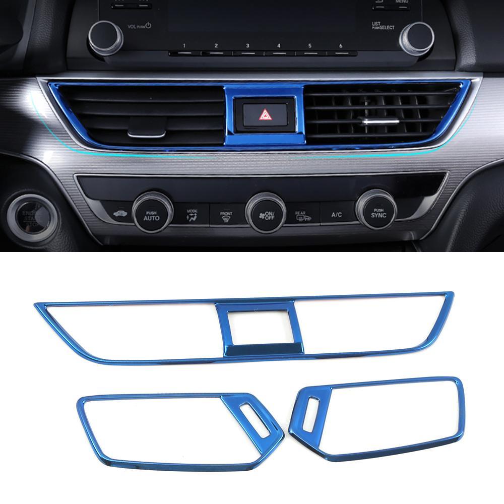 Araba Aksesuarları Ön Dashboard Panel Hava Havalandırma Çıkış Trim Kapak Çerçeve Sticker İç Dekor Honda Accord 10th 2018-2020