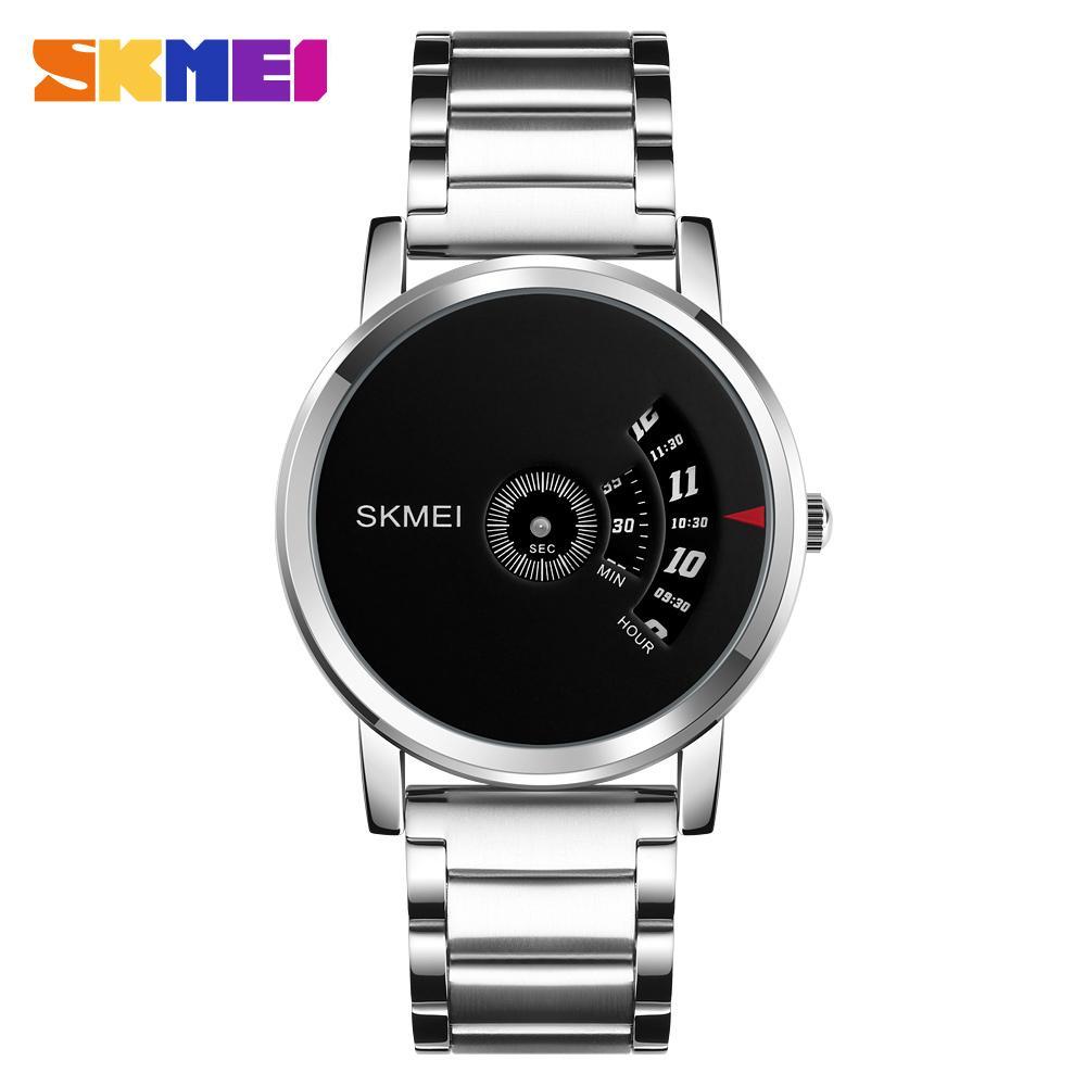SKMEI Relogio Masculino 1260 Fashion Men Quartz Watch Stainless Steel Strap Waterproof Male Wristwatches Clock