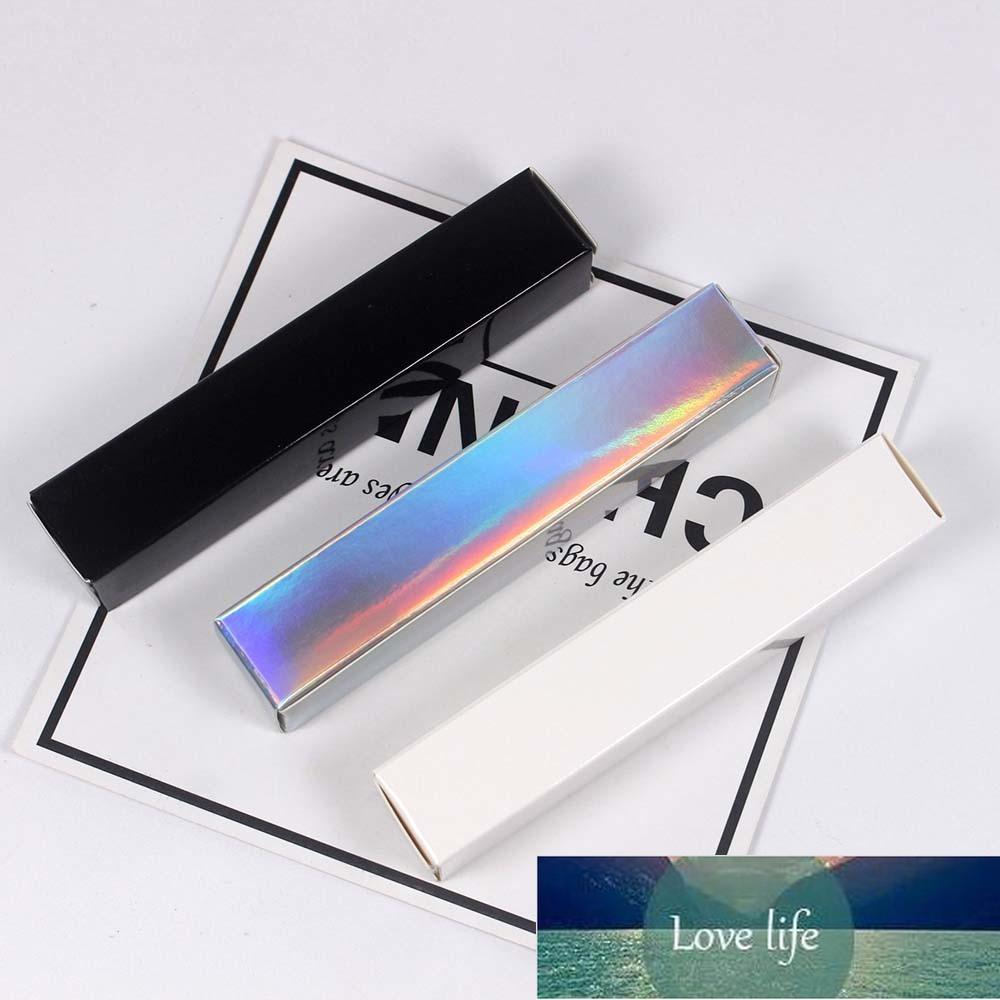 Dudak Parlatıcı Tüp Kağıt Kutusu 20 * 20 * 110mm Holografik Gümüş / Siyah / Beyaz Ambalaj