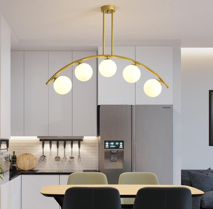 Kolye Lambaları Modern Cam Topları Avize Lüks Sihirli Fasulye LED Damla Işık Oturma Odası Mutfak Cafe Ev Dekorasyon Aydınlatma Armatürleri