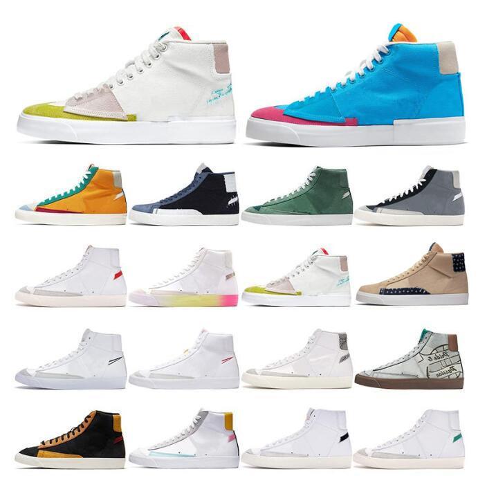 Blazer Mid 77 Runners Shoes Chaussures Mode Hommes Femmes Passez une bonne fierté de la ville Cool Gris Thermique Blanc Black Habanero Dorothy Gaters Oderfko #