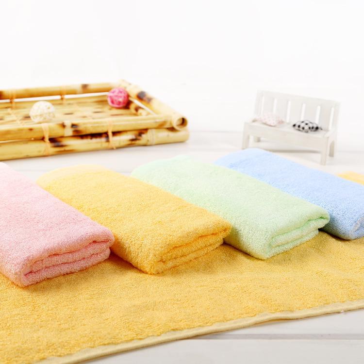 Fibra de bambu simples 25 * 50 crianças pequenas toalhas da beleza facial presentes da propaganda