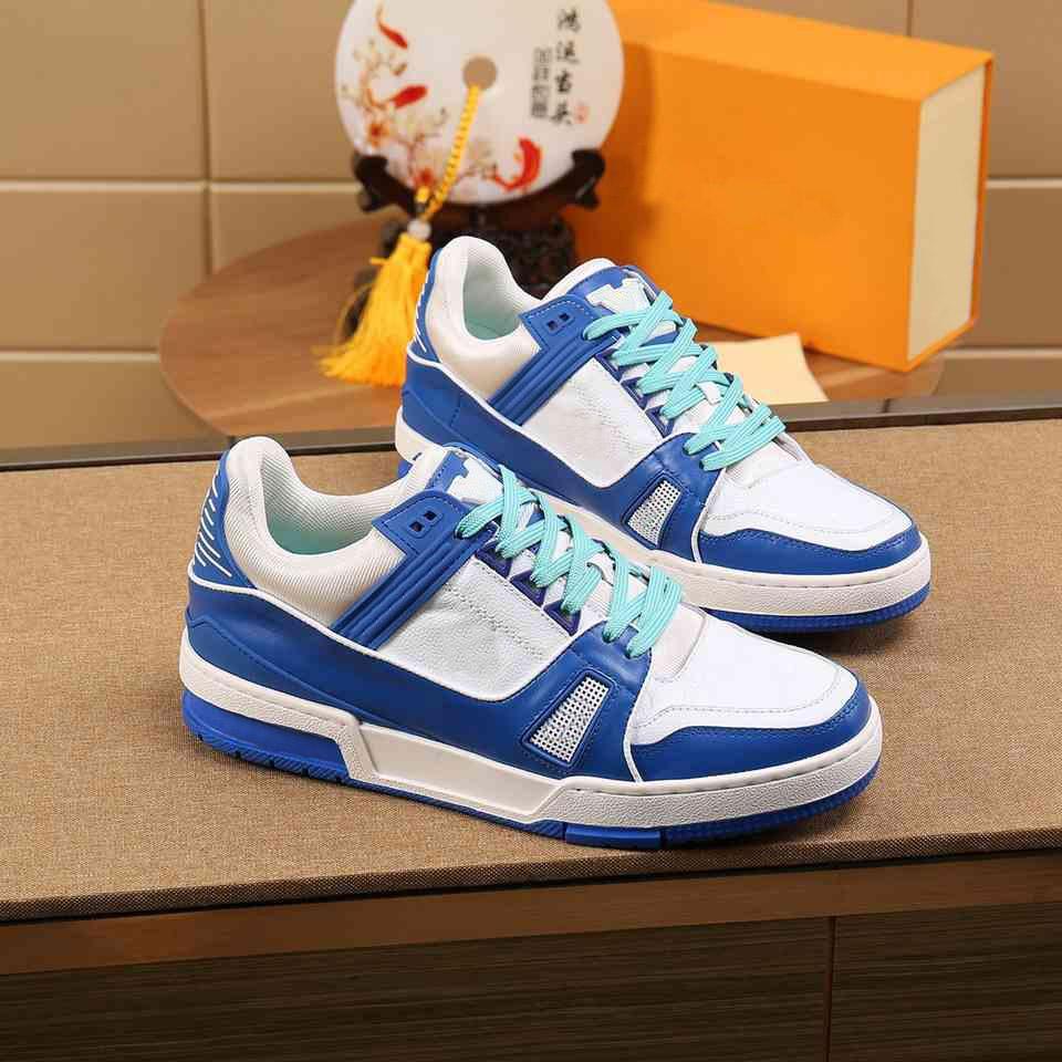 Moda Sneakers Erkekler Rahat Ayakkabılar Tasarımcı Chaussures Deri Açık Platformu Spor Sneaker Ayakkabı Büyük Boy38-46