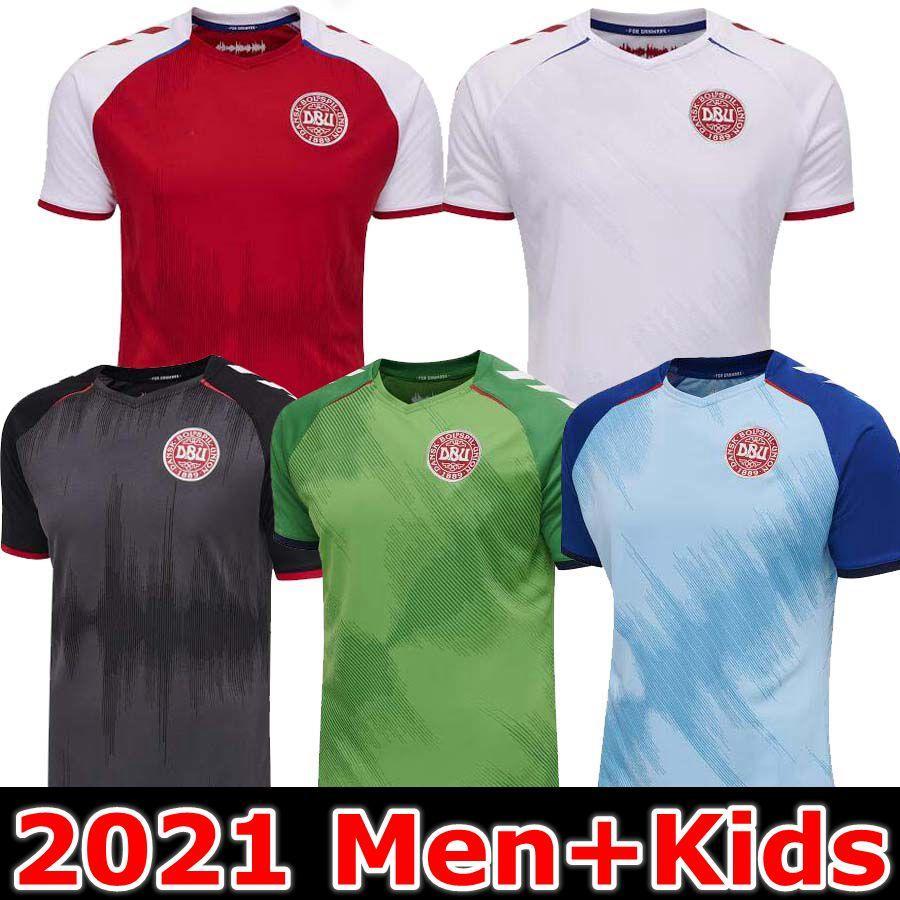 2021 2022 Denmark Soccer Jersey 21 22 dinamarca camisetas Eriksen HOjbjerg Yussuf Christensen Home Away Top Thai National Football Shirt goalkeeper MAILLOT DE FOOT