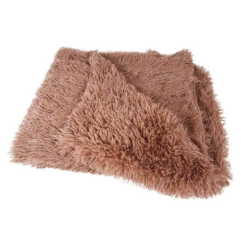 Kennels Stifte Haustier Katze Schlafmatte Korallen Fleece Winter Halten Sie warme Decke kleine mittelgroße Hunde Katzen Hundebettmatten liefert
