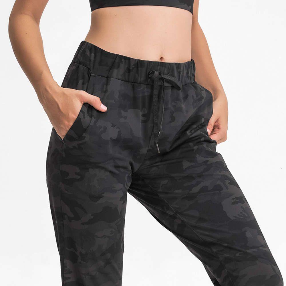 Taille élastique Pantalon de Yoga Simple Tube Straight Sports Sports Loisirs en cours d'exécution Yoga Sports Gym Leggings Femme Workout Capris Yoga Joggers Trouses