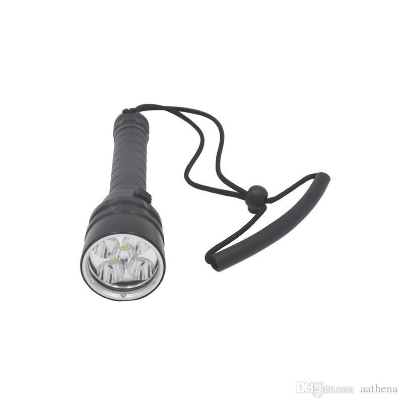 LED Matériau en alliage d'aluminium imperméable à l'étanche Focus fixe Multifonctionnel lampe de poche tactique chargeuse de réparation d'urgence en plein air plongée flashl