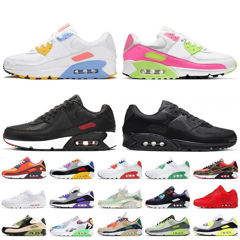 Nike Air Max 90 Nike 90 off white حذاء رياضي نسائي OG volt green camo أساسي أحمر بنفسجي مشرق be true أحذية رياضية للرجال
