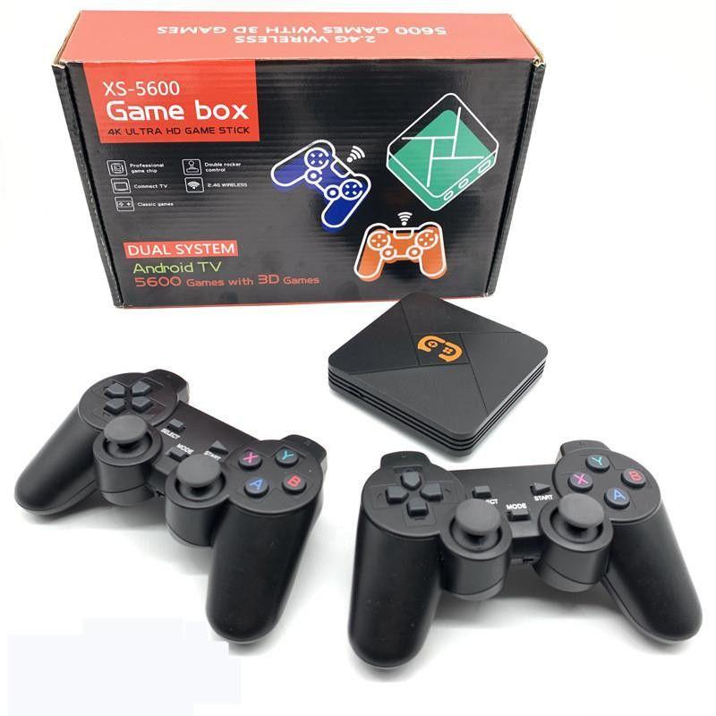2021 PS5600 Jogo de TV 4K Saída HDTV 32G Retro Caixa de TV Retro Console de Jogo para PS1 / PSP / SFC / Neo / Arcade / GBA / N64 Video Game Console com 5600 Jogos Jogos 3D