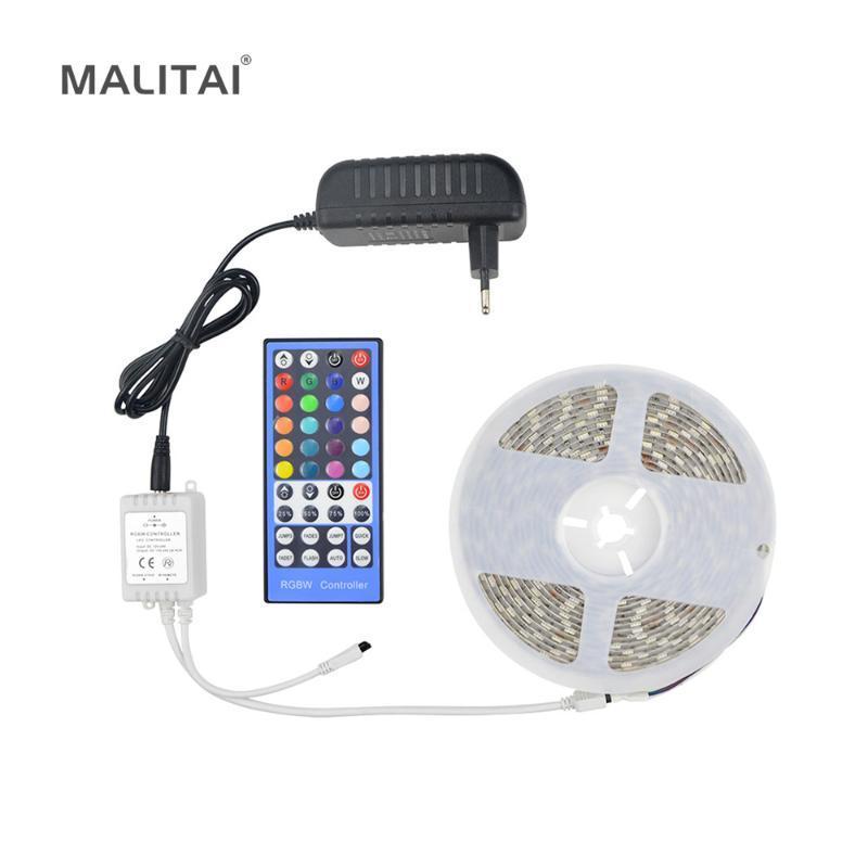 LED-Streifen-licht wasserdichte RGBW RGBW-Ribbon-Band-Remote-WLAN-Controller 12V-Netzteil-Kit-Streifen
