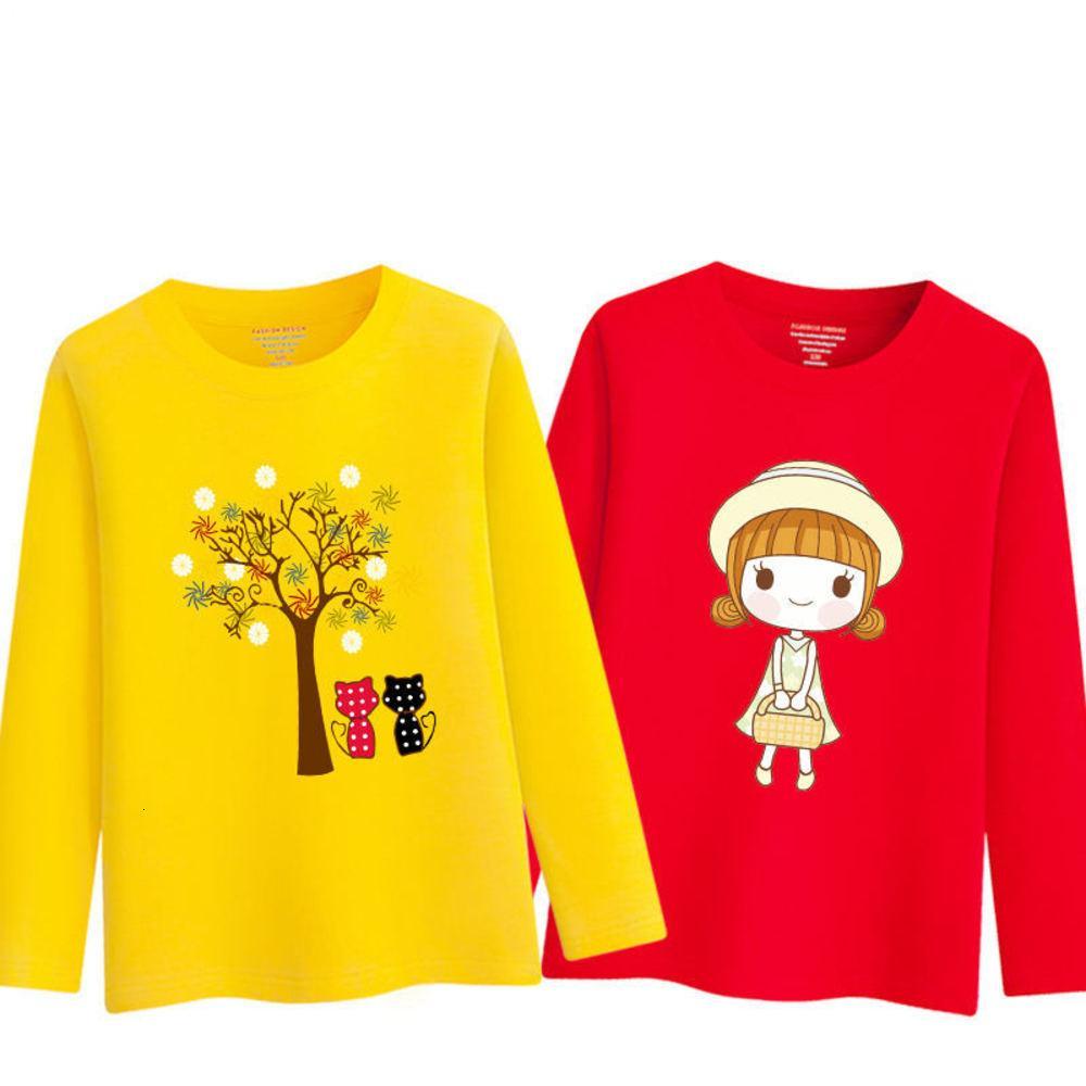 Selling chaud filles Tshirt manches longues dessin animé enfants printemps automne vêtements mignon bas t-shirts pour enfants sweatshirts 210302