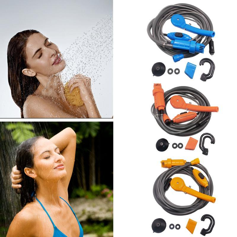 Car Washer Camping Travel Universal Shower Set Portable Electric Pump Indoors And Outdoor For Cleaning Hiking Pet