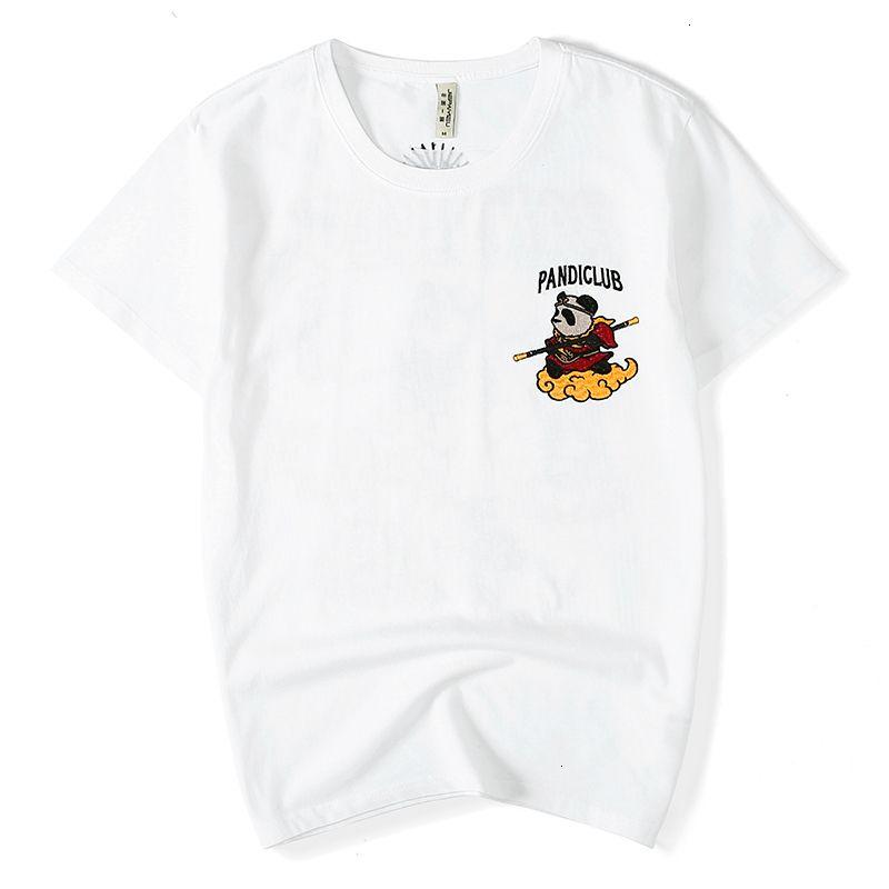 Erkek T-Shirt Çin Tarzı Marka Trend Erkek Nakış Kısa Kollu T-Shirt Gevşek Büyük Boy M-4XL Pamuk Yaz T Gömlek Erkekler Camiseta BPKC Tops