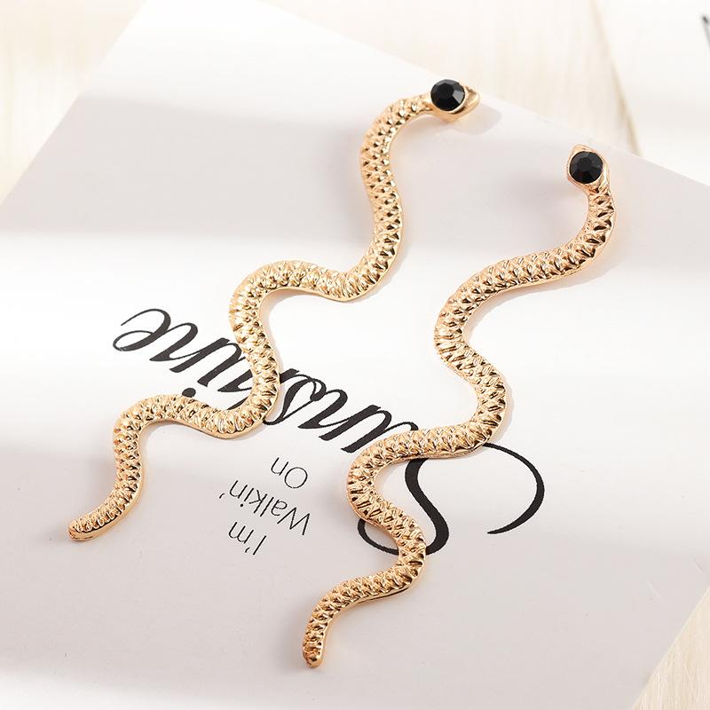 5pcs donne gioielli europa personalità distorta serpente geometrico hip-hop orecchini femminile esagerato serpentino serpentine orientata orecchini orecchini