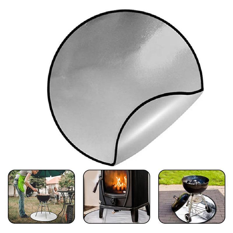 Ferramentas Acessórios BBQ Grill Mat 30inch Cozimento Cozinhar Folha de Calor Resistência ao Calor Facilmente Limpado Cozinha Redonda Fogo Acessório