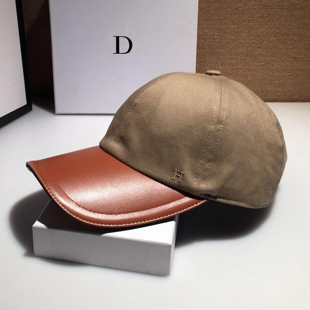 CAP PU Cuir Eaves de baseball Spring et automne personnalisé femelle H chapeau de mode coréenne