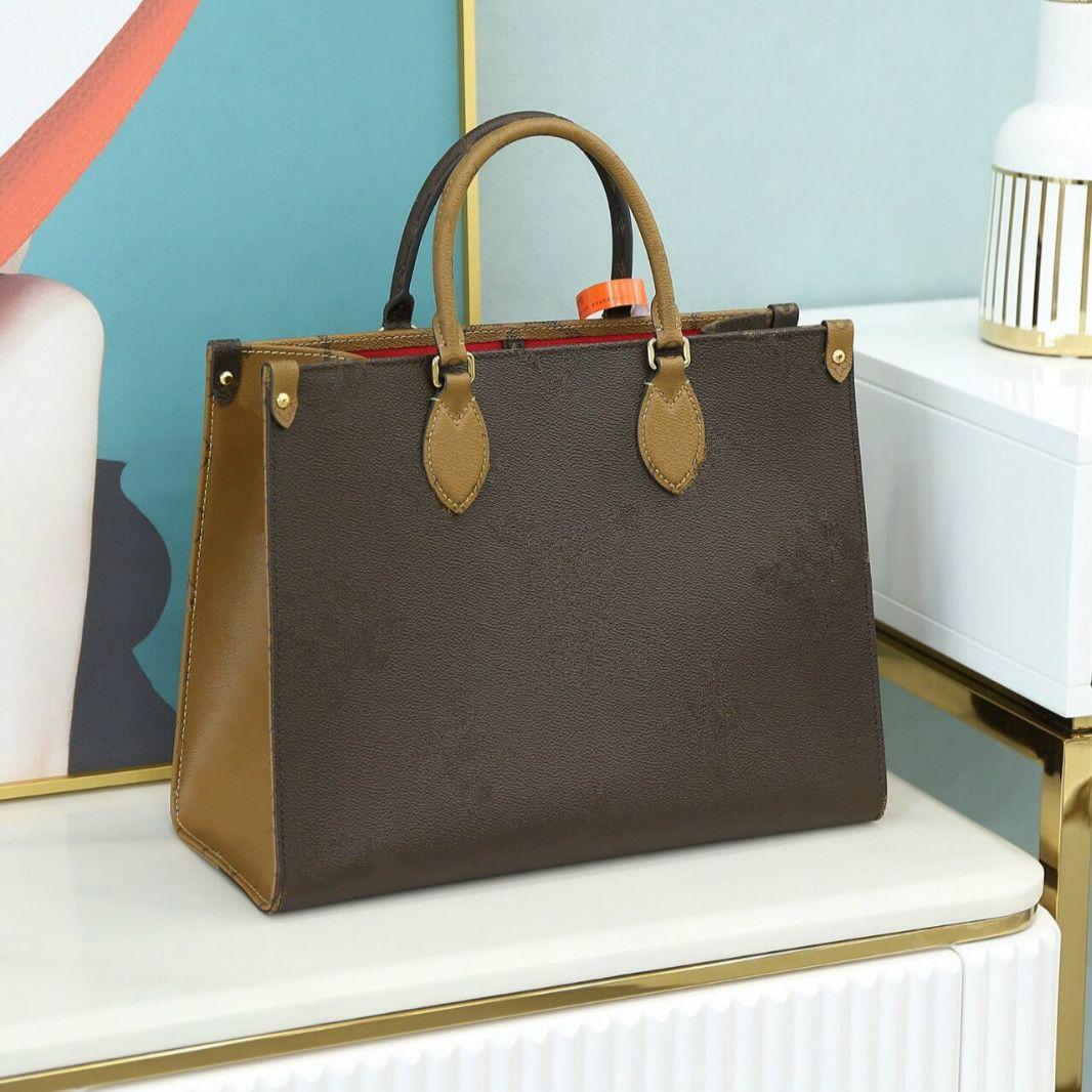 2021 onthego mm luxurys 디자이너 가방 핸드백 M45321 고품질 숙녀 체인 어깨 특허 가죽 다이아몬드 지갑