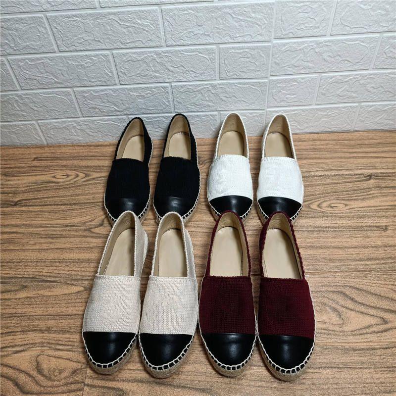 Classic Fishrman Zapatos Cabeza redonda Embooidered Mocasines de paja Vintage Plataforma Espadrilles Cuero Casual Shoe Spring Autnmn Sandalias suaves