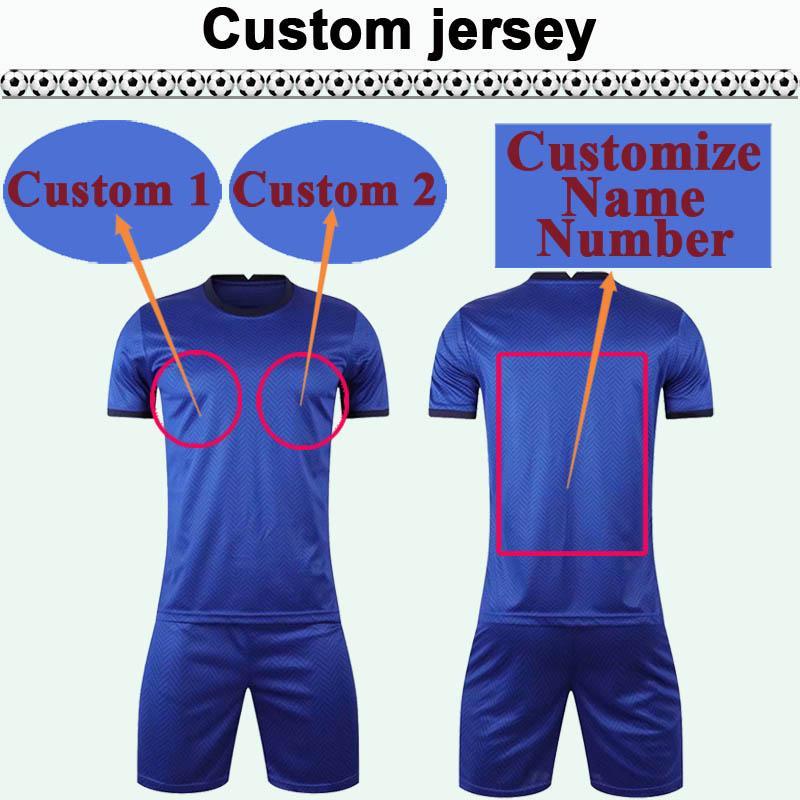 Kit de jersey de soccer de Soccer Club de Team Club personnalisé Vous pouvez personnaliser le nom et le nombre de chemises de football de design telles que 18 xingjiang