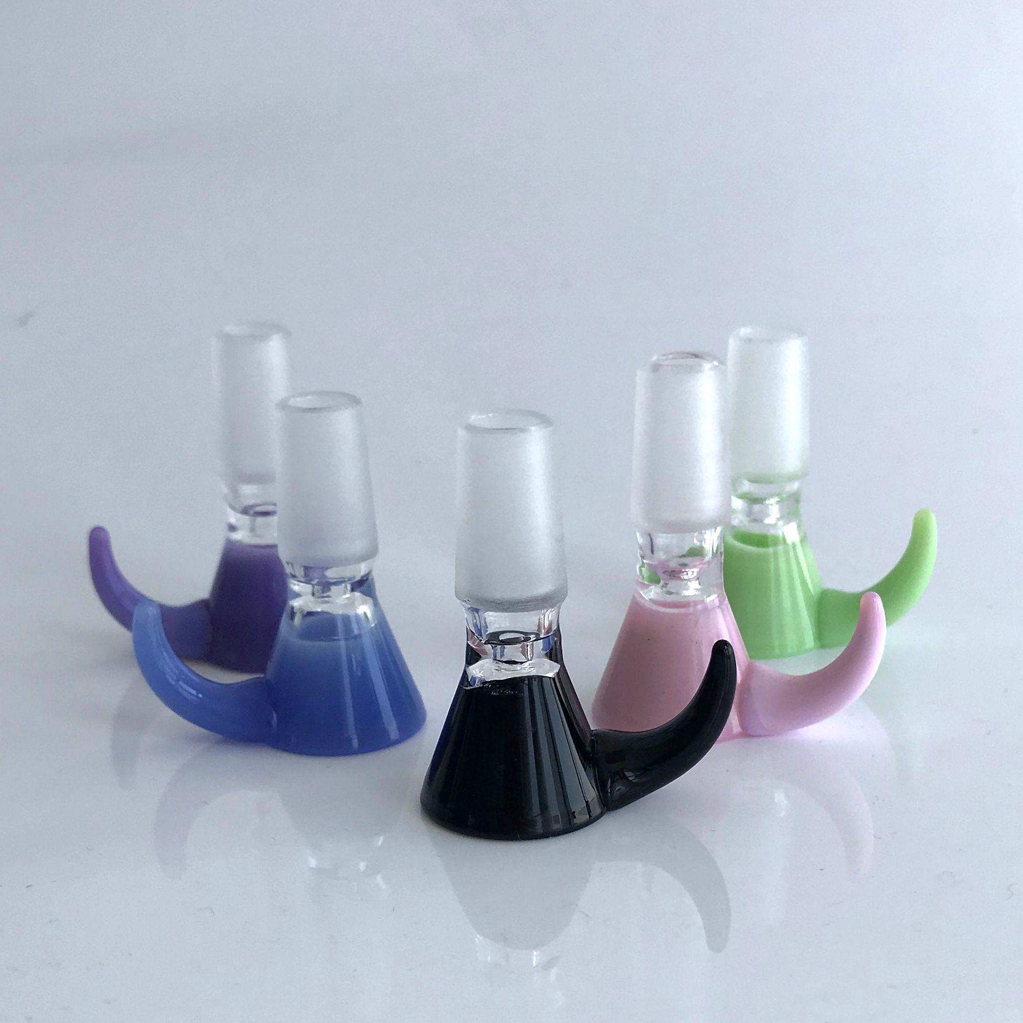 Королевские аксессуары для курения Молочные цвета Ос Роговый стиль Стеклянные чаши 14 мм Мужской густой Большие чаши Кальяны Кусок для водных бонгов