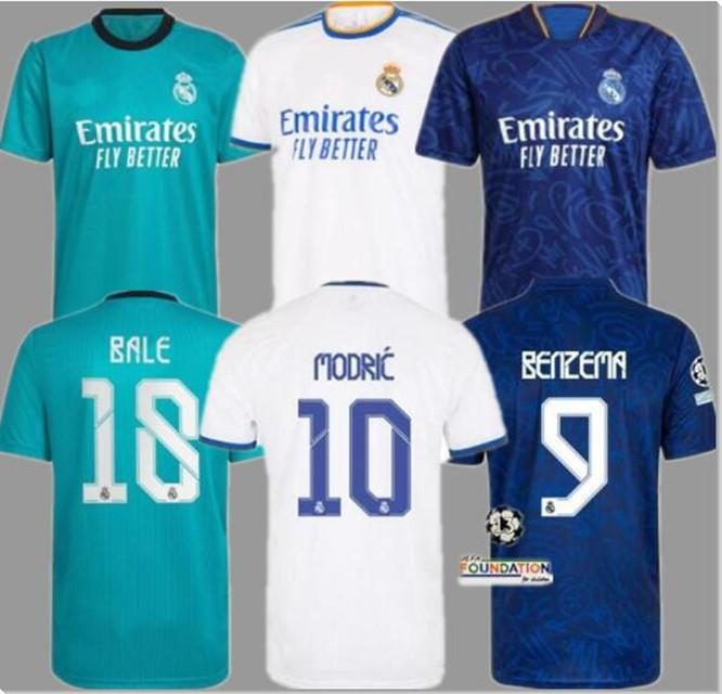 21 22 Real Madrid Maglia da calcio 2021 2022 BENZEMA MODRIC Versione giocatore per fan HAZARD ASENSIO CASEMIRO VINICIUS JR. uomo Maglia