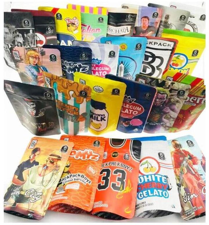 Arrivo 17 Kints 3.5G BAG BAGS TOMYZ MERZCATO Zaino Boyz 33 Lucky 420 Flower Packaging California Garrison Lane Gelato 41 Arachide
