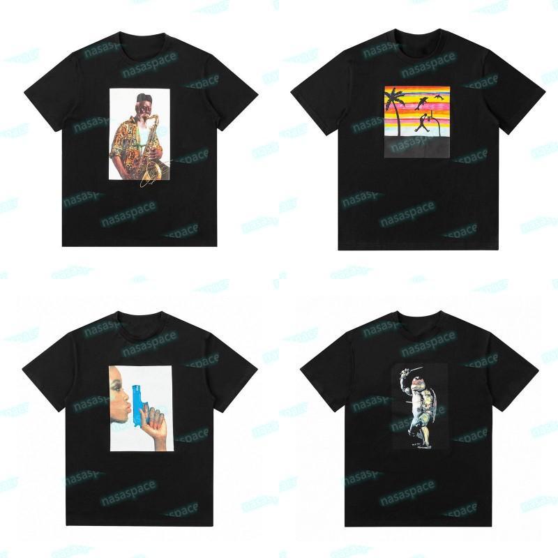20fw Pharoah Sanders Summer T-shirt 21SS Raphael Tortoise Noir Blanc Tee Homme Femme Designer Courtes Manches Taille S-XL