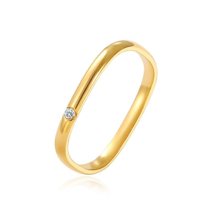 2021 Square creativo incrustado zircon anillos de oro para mujer moda joyería coreana boda fiesta chicas inusual anillo de dedo