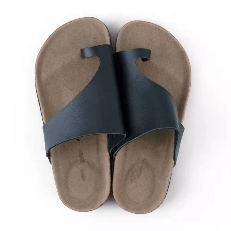 여름 여성 슬리퍼 해변 플랫 플립 플롭 섹시한 오픈 발가락 숙녀 샌들 PU 가죽 캐주얼 여성 신발 슬라이드 큰 크기
