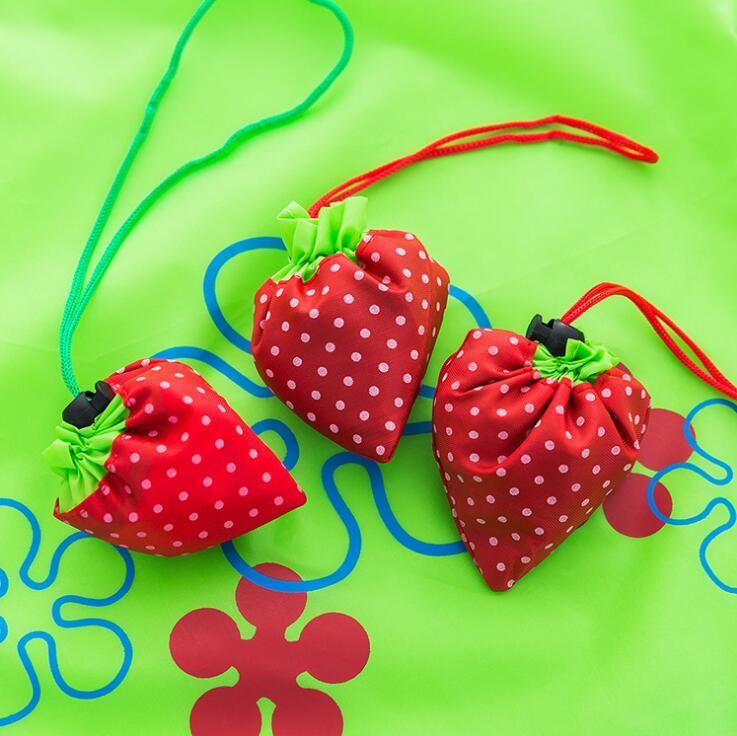 Süße Erdbeer-Einkaufstasche Wiederverwendbare Umweltfreundliche Einkaufen Tasche Tragbare Folding Aufbewahrungstaschen Beutel Supermarkt Tragetaschen CCF4788