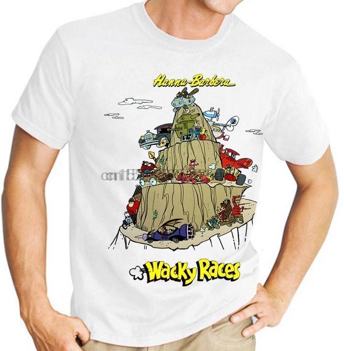 T-shirt da uomo Barbera Wacky Races Classic Kids TV T-shirt da uomo