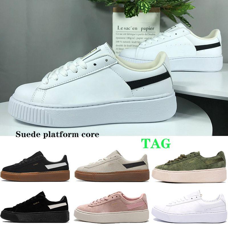 2021 plataforma de gamuza núcleo hombres zapatos de correr gris pálido partícula rosa triple blanco cuero trigo beige negro goma mujeres zapatillas zapatillas para hombre entrenadores