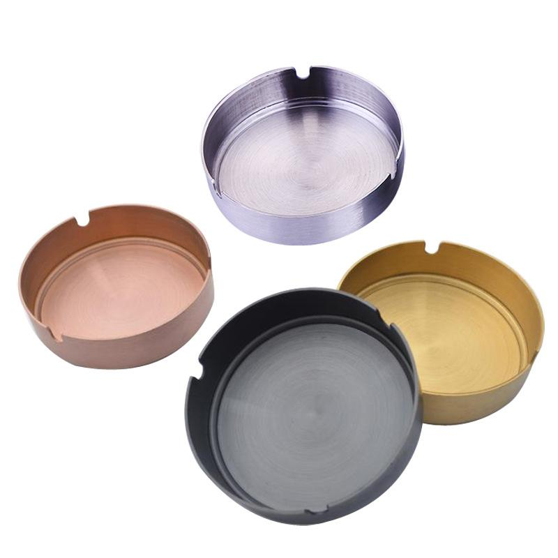 Stainless Steel Ashtray For Cigarettes Outdoor Easy Clean House Decorations Smoking Accessories