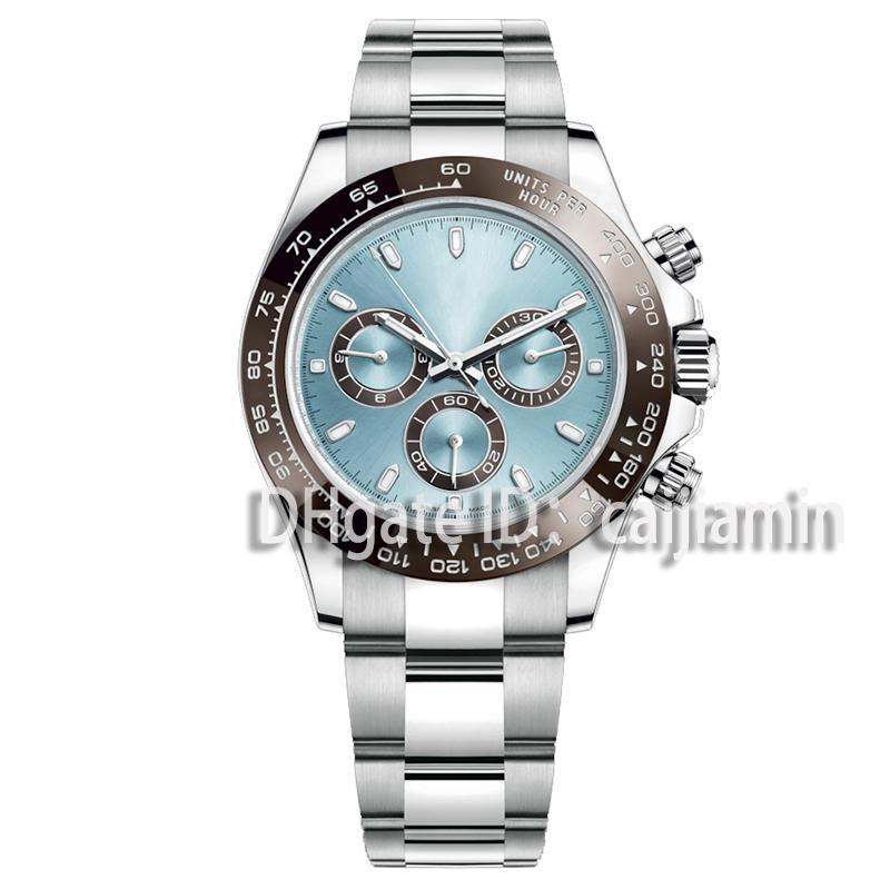 Caijiamin-2021 montre de luxe u1 جودة مصنع 40 ملليمتر رجل الساعات الياقوت الزجاج الفولاذ المقاوم للصدأ الحركة التلقائي السماء الميكانيكية الطلب الأزرق الصلبة قفل جنيف