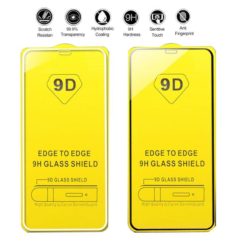 9D Full Cover Tempered Glass Screen Protectors For Samsung Galaxy M10 M30 M50 S10e A9 PRO A10E A20E A11 A21 A31 A51 A71 A81 A91 M11