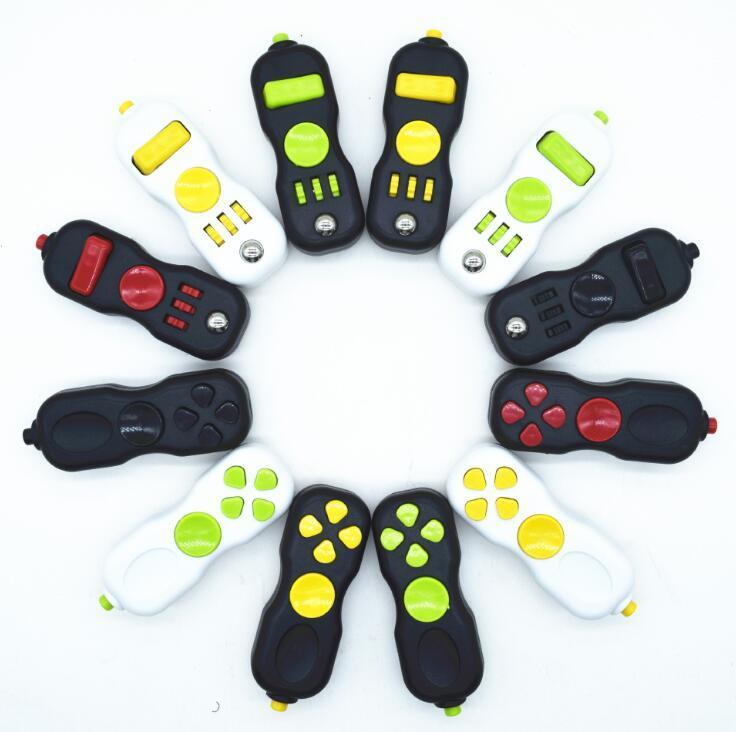 Full Color Fidget Brinquedo Pad quebra-cabeça Cubo Hand Shank Jogo Controladores Stress Relief Finger Decompression Ansiety Toys