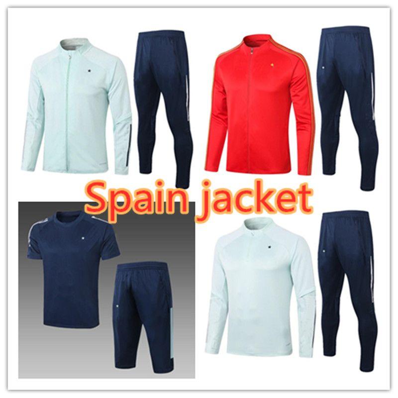 2021 Spanien Erwachsenejacke Fussball Trainingsanzug Camiseta España Ramos Paco Alcacer Morata Thiago Saul Fabregas 2021/22 Fußballtraininganzug