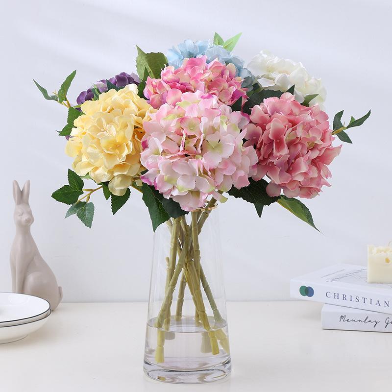 Künstliche Hortensie Floral Blume Seide 16 cm Hortensie Home Garten Dekor Gefälschte Blumen Hochzeit Geburtstag Party Dekorationen