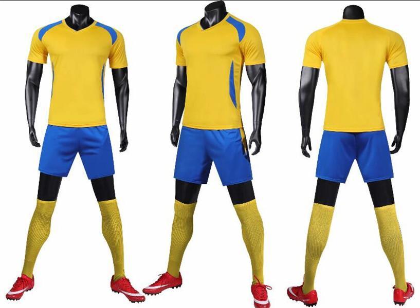 0127 Hommes Football Shirt Kits Jersey Soccer Jersey Taille adulte Taille courte Suit Ensemble de succursales Jogging Set