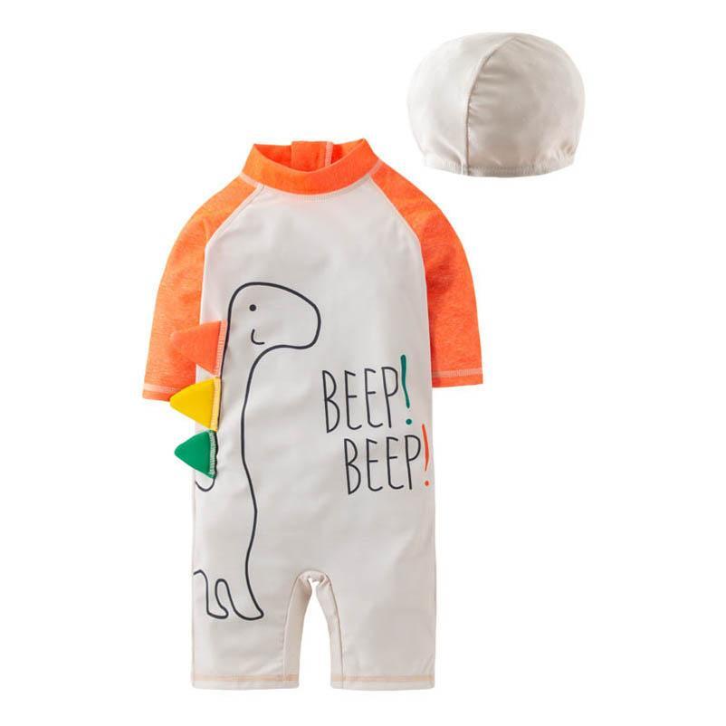 Trajes de baño para niños para niños Trajes de natación para bebés Troncos de baños Ropa de dibujos animados Sombreros 2pcs / sets B4531