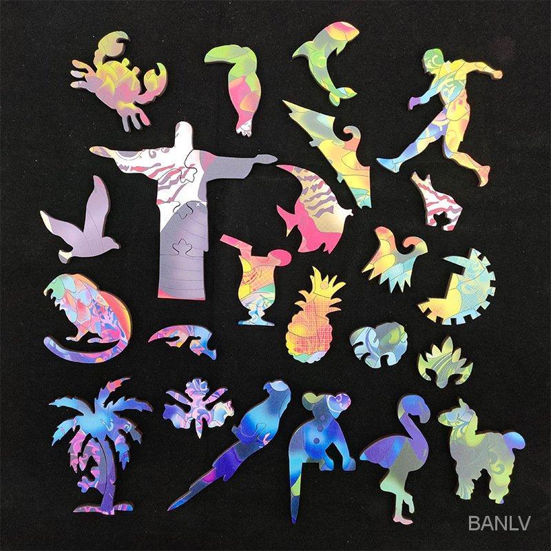 Banlv Parrot Puzzle в форме нерегулярной головоломки деревянная доска форменная головоломка животных родитель-ребенок и игра тенденция творческий подарок деревянный