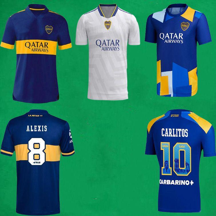 Acquista 21 22 Boca Juniors Fans Versione Giocatore Soccer Jersey 2021 Maradona Tevez De Rossi Camicie Da Calcio Casa Away 3rd Mens Set Bambini A ...