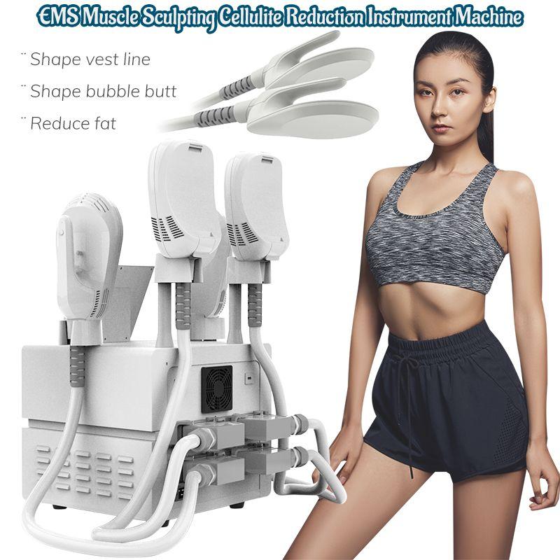 4 poignées EMSLIM HI-EMT Minceur Machine Stimulation musculaire EMS Équipement de beauté en forme de graisse électromagnétique
