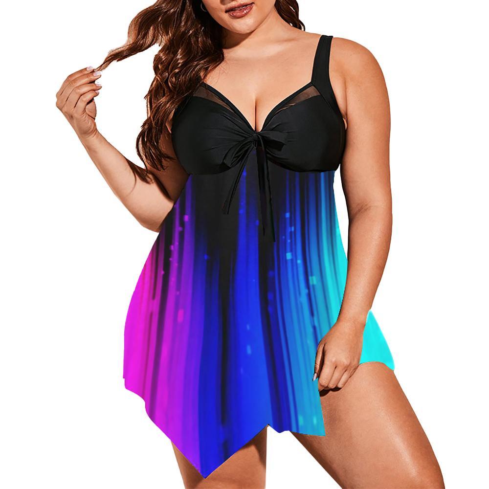 Maillots de bain pour femmes 2021 PLUS Taille Maillot de bain pour filles Tye Tye SwimPources et Femmes Bottom Bikinis 2pcs Beachwear Suit de bain D30