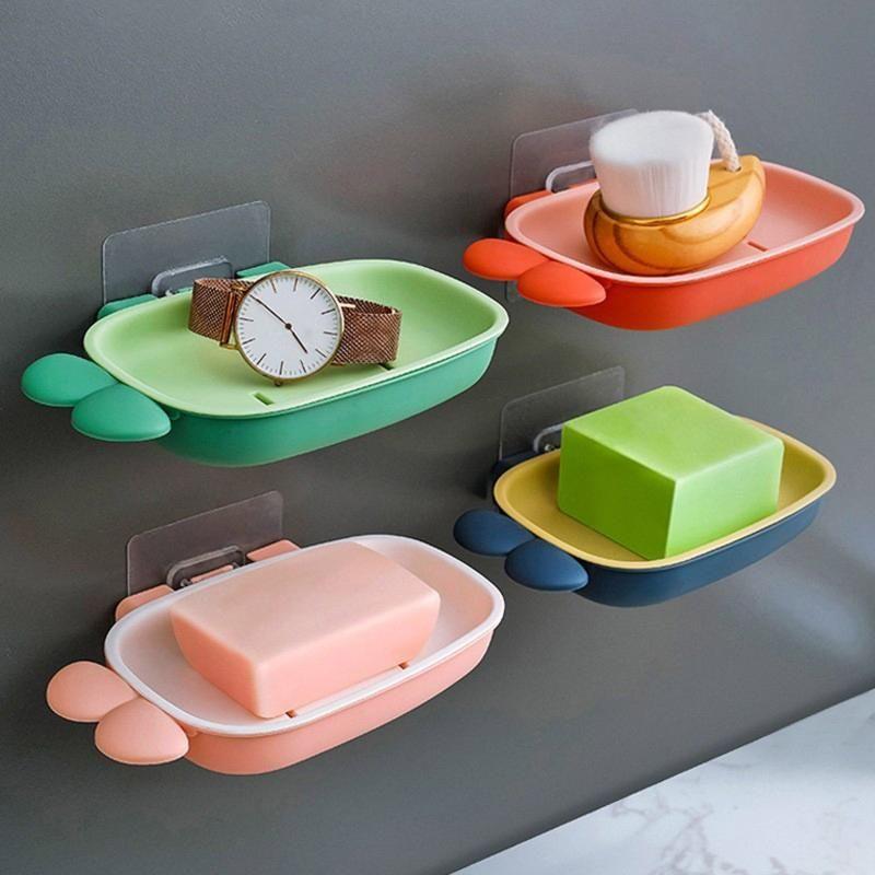 Seifenschalen Schöne Karottenbad Tragbare Dusche Nicht perforierte Tablett Lagergestell Box Schwammbürstenhalter
