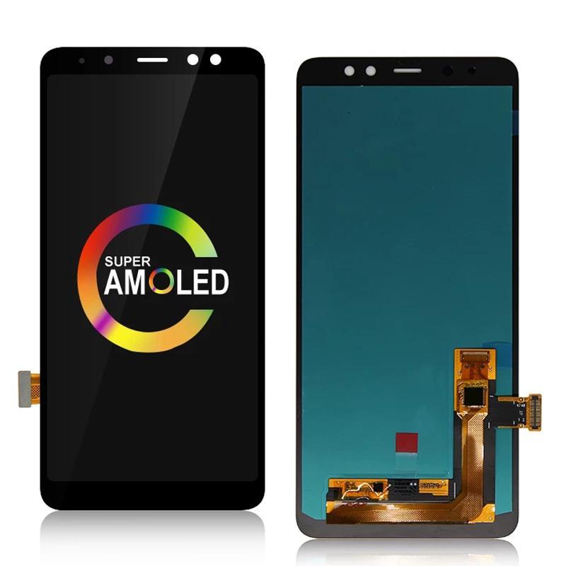 A730 Оригинальные Super Amoled Панели для Samsung Galaxy A8 Plus A8 + 2018 ЖК-дисплей SM-A730F Дисплей Сенсорный экран Digitizer Сборка замены оптом Запчасти